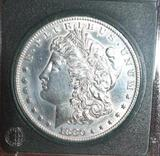 US Morgan Silver Dollar 1880-S, Excellent Details, Bright Mirror Shine