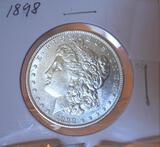 US Morgan Silver Dollar 1884-O, Bright Mirror Shine, excellent Details