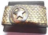 Mens Wallet ID Holder and Money Clip with Diamonback Rattlesnake band