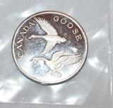 Canada Goose 2 oz .999 Fine Silver, Unc. North Am. Wildlife Series