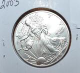 2003 American Eagle One Dollar, 1 oz Fine Silver, Unc. Condition