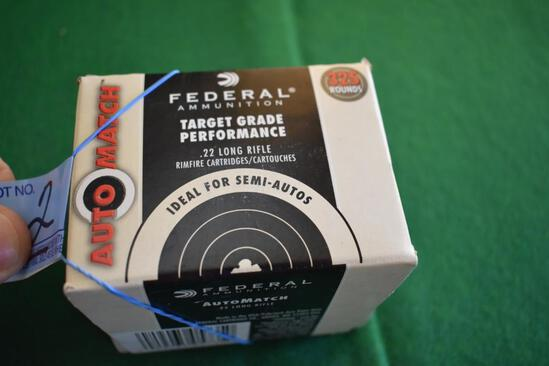Federal .22 Long Rifle, Target Grade Ammo, Box of 350