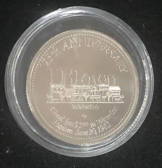 Waterloo 125th Anniversary Uptown Coin