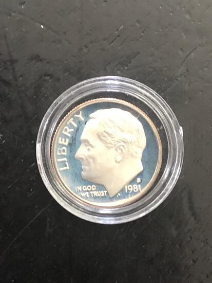 1981 S Dime Proof