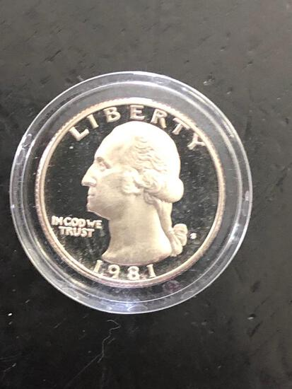 1981S PROOF QUARTER