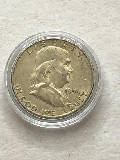 1950D Benjamin Franklin Half Dollar