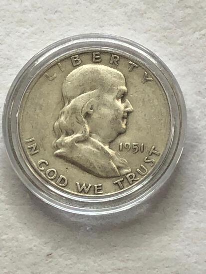 1951s Benjamin Franklin Half Dollar