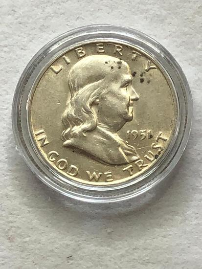 1951D Benjamin Franklin Half Dollar