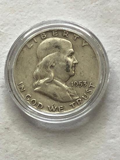 1953D Benjamin Franklin Half Dollar