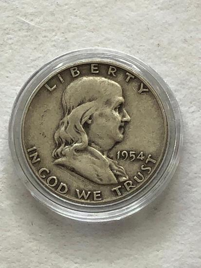 1954D Benjamin Franklin Half Dollar