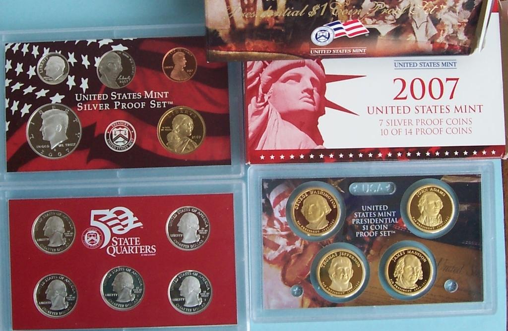 Silver-dollars,halves,quarters,dimes, Proofs,mint