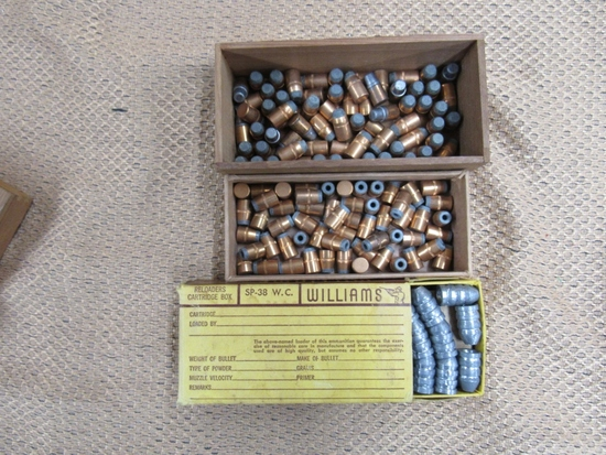 mixed bullets lot. approx 80pc 357/38. approx 75pc 45cal.