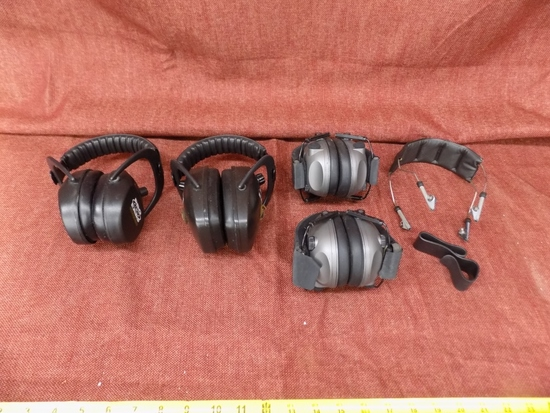 4 pairs of ear muffs and some parts