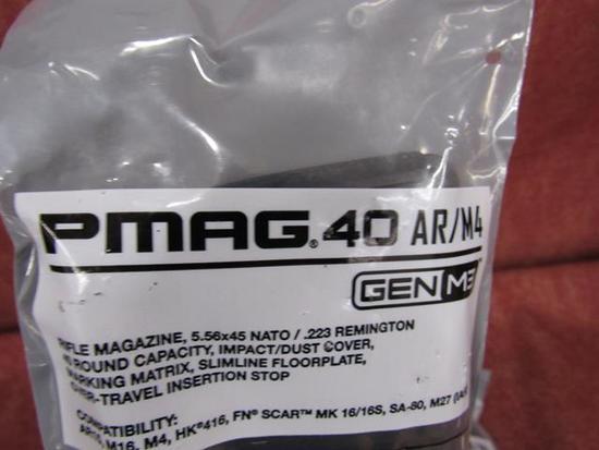 5 PMag 40rd AR-15 Magazines