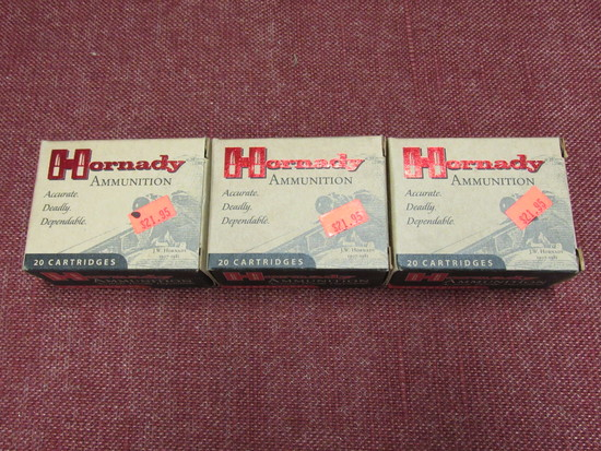 3 boxes of Hornady Custom 10mm auto ammo