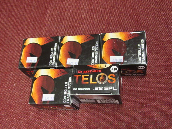 G2 Research Telos .38 spl ammo - 5 boxes