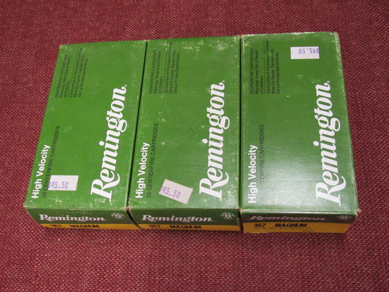 3 boxes of Remingtom 357 magnum ammo Hollow points