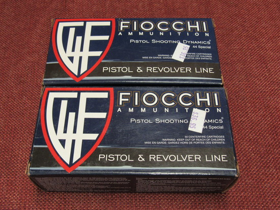 2 boxes of Fiocchi 44 special ammo, 200 gr.