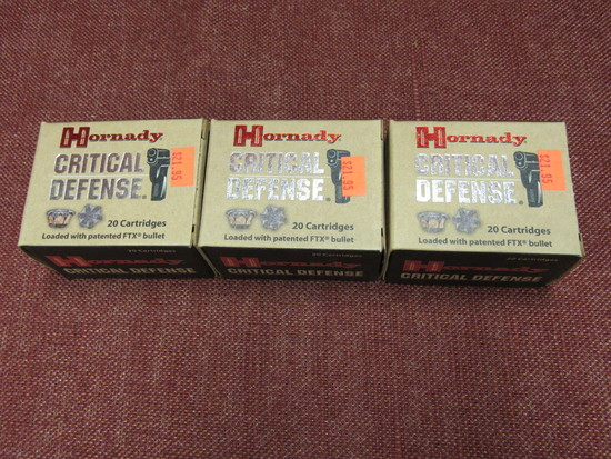 3 boxes of Hornady critical defense 44 spcl ammo
