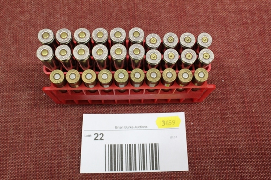 mixed rifle ammo lot. 10rds 30-30. 12rds 300wm.