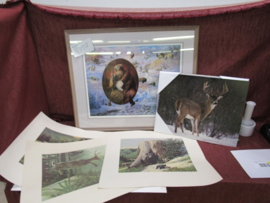 large lot with wildlife prints.