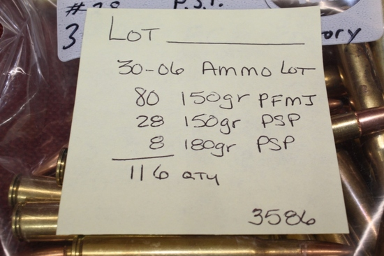 30-06 ammo lot. 116rds total.