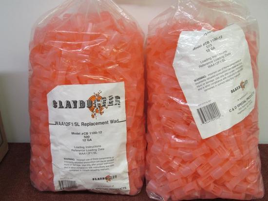 2 bags of ClayBuster WAA12FA/SL Wads, 12ga #CB1100-12
