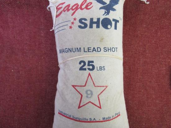 Eagle Shot 25 lb Magnum Lead Shot #9, Heavy for Shipping