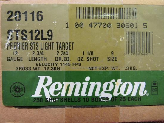 Case of Remington 12ga Premier STS Light Target, 10bx total