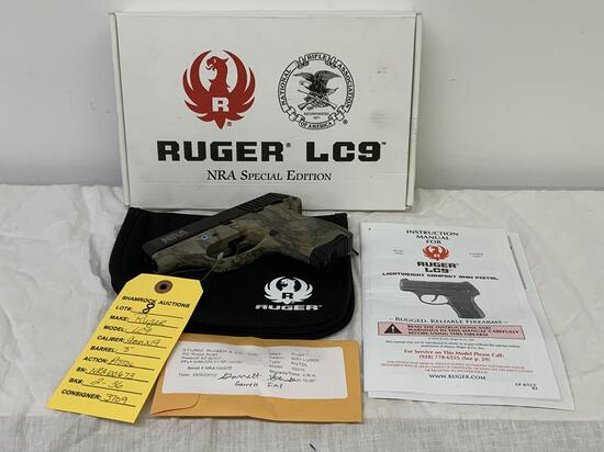 "Ruger, LC9, 9mmX19, sn: NRA100673, 3"" brl, Pistol,"
