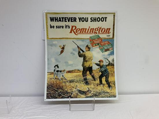 Remington metal advertising sign, appears to be vintage