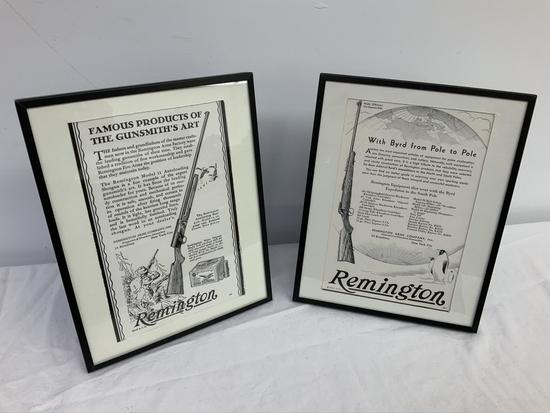 Remington Advertising Prints 2pcs