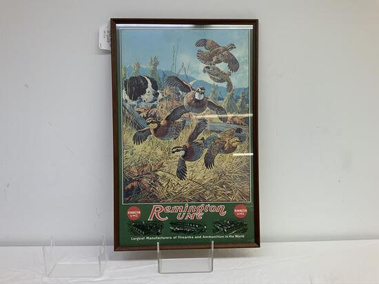 Remington UMC vintage framed advertising - custom framing