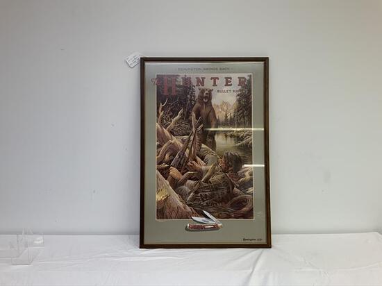 "Remington Bullet Knife vintage advertising  ""strapped"""