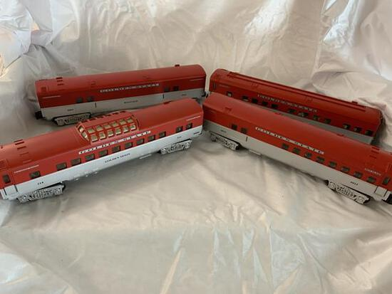 k-line 4 pc train cars Golden State IOB