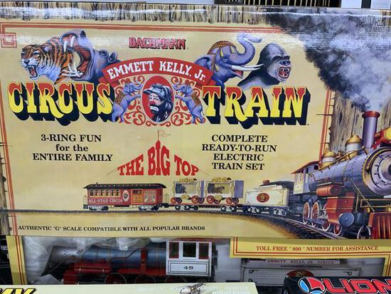 bachmann emmett kelly jr circus train set in original box
