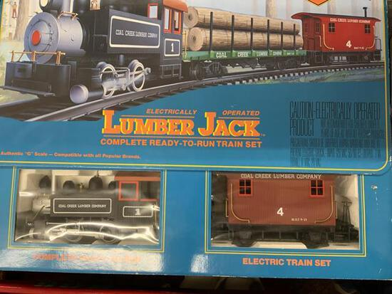 bachmann big haulers royal blue train set in original box