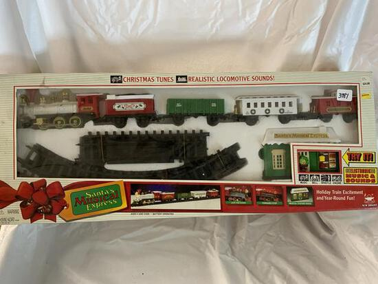 santa's musical express train set battery operated