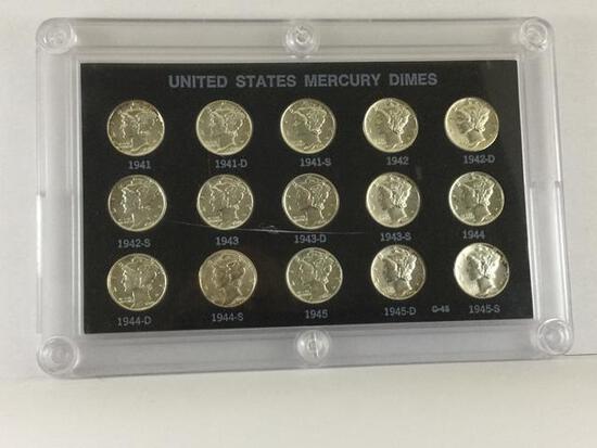 1941-1945 United States Mercury Dimes, P, S & D Mint