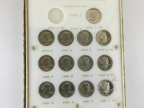 1979-1891 Type 1 & 2 P, D, S & S PR. Mint Susan B Anthony