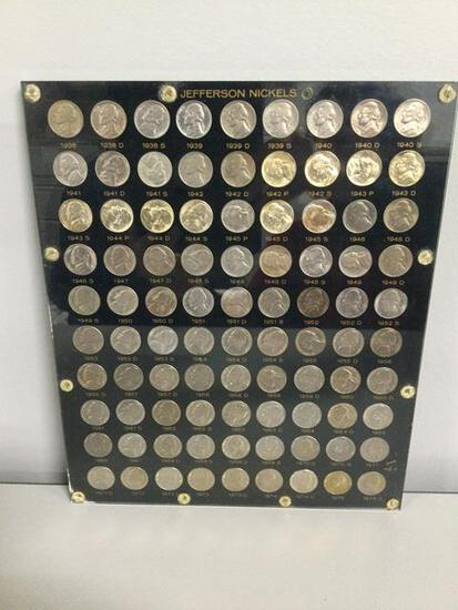 United States Jefferson Nickels 1938-1975, includes P, D & S