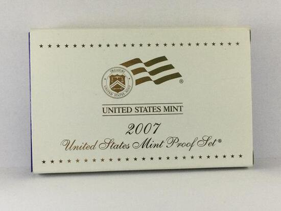 1- 2007 United States Mint Proof Coins, S Mint, State Quarters &