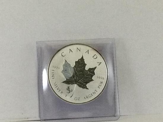 2014 Elizabeth II 5 Dollar Canada, 999 Fine Silver 1oz