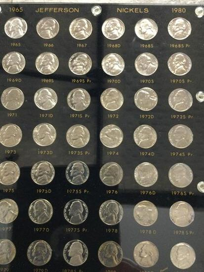 United States Jefferson Nickels 1965-1980, includes different