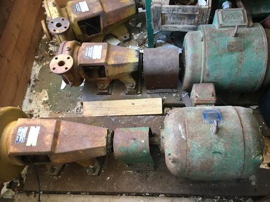 Two (2) Tamper AC Motors & Three (3) Mather + Platt Pumps