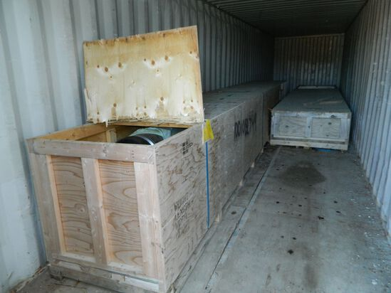 """Two (2) Crates Containing 9 Pieces Of 13"""" Pipe X 20' Long With Suction End"""