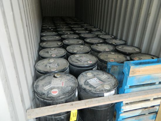 One Hundred And Ten (110) 45 Gallon Drums Of Esso Spartan Ep 220 Oil