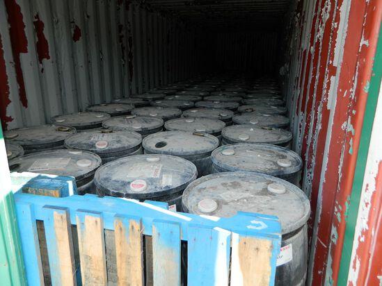 Twenty-eight (28) 45 Gallon Drums Of Esso Extra Hydraulic Oil
