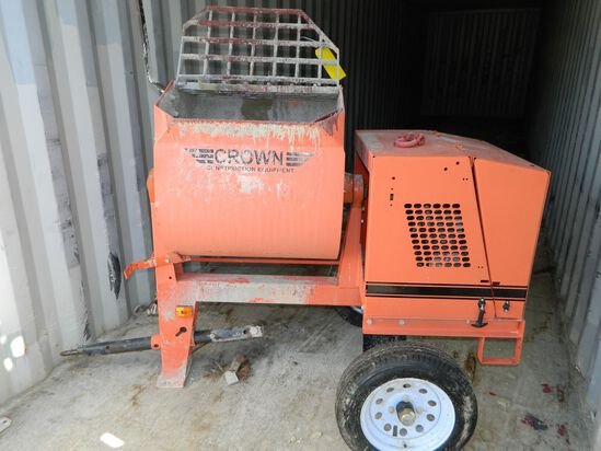 Cement Mixer, Crown 6SR With Gas Motor