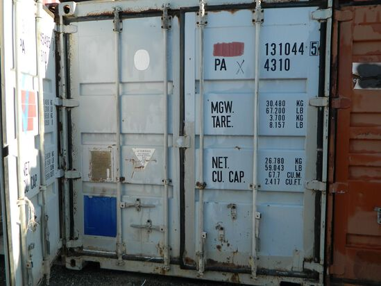 Shipping Container Number: 131044